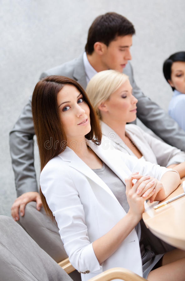 Download Business Team At The Seminar Royalty Free Stock Photos - Image: 26756868