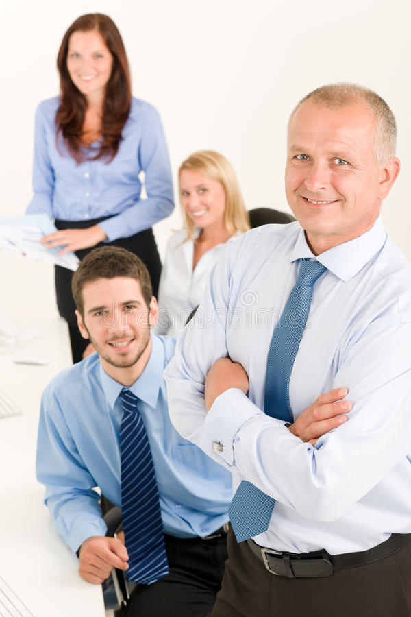 Download Business Team Senior Manager With Happy Colleagues Stock Image - Image: 21771005