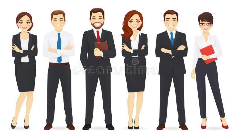 Business team set vector illustration