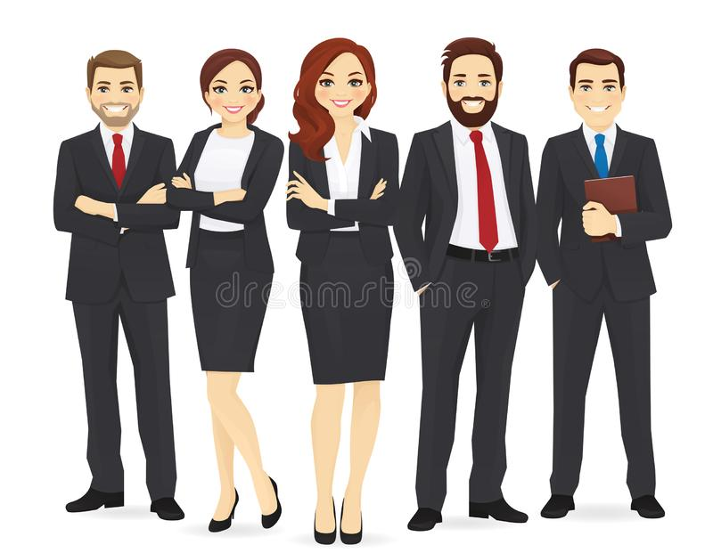 Business team set royalty free illustration