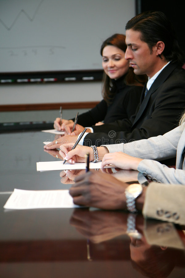 Download Business Team Signing Contracts Stock Image - Image: 1645825