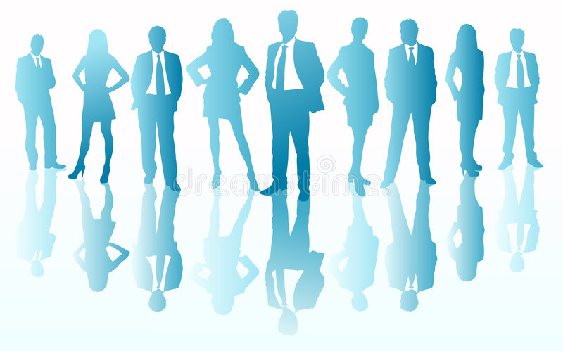 Download Business team silhouettes stock vector. Image of vector - 4749126