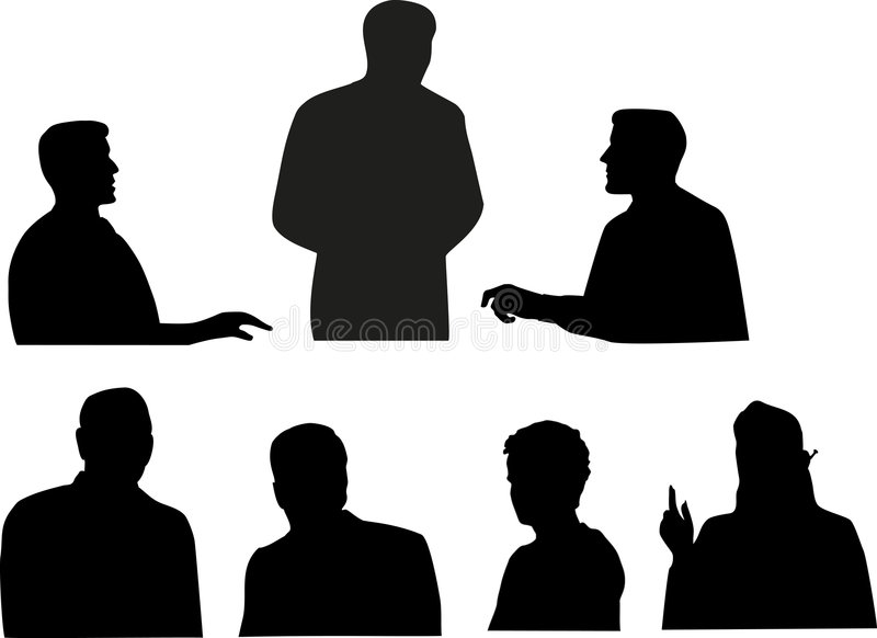 Business team silhouettes vector illustration