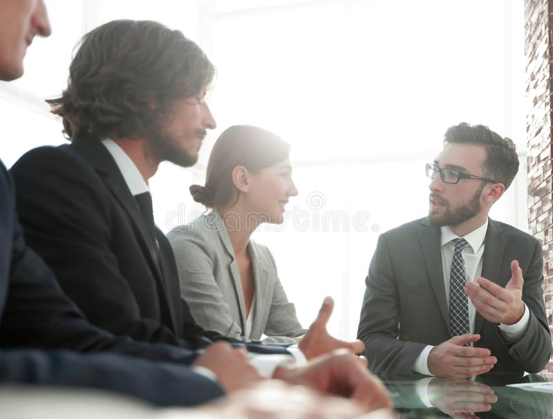 Business team sitting at Desk royalty free stock photo