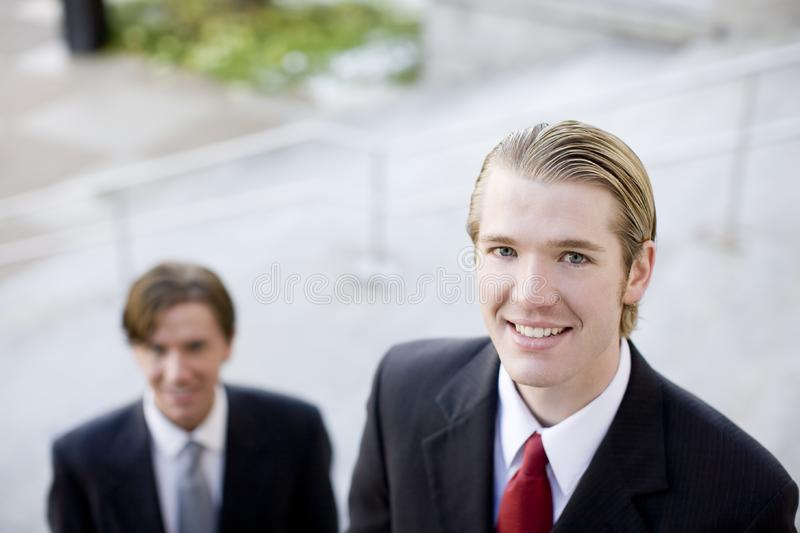 Business team, smiling royalty free stock photography
