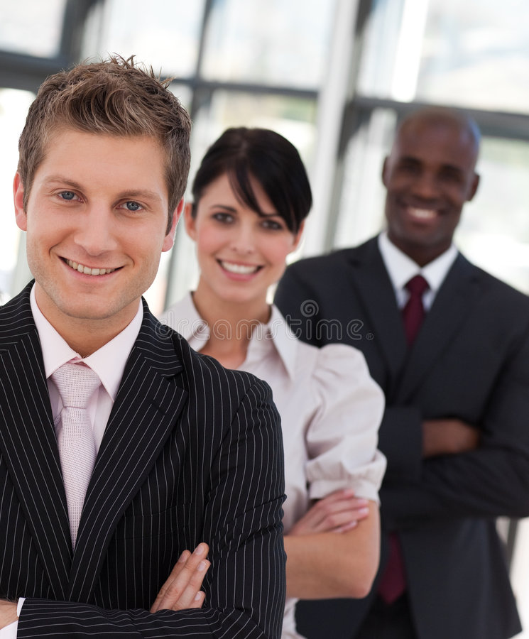 Business Team Smiling Stock Images