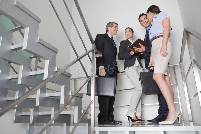 Download Business Team In Stairway Stock Images - Image: 27481904