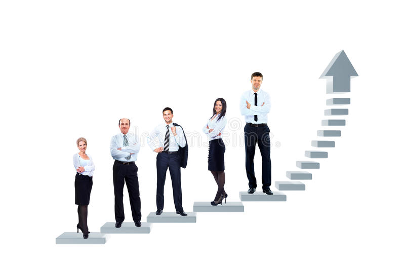Business team is standing royalty free stock image
