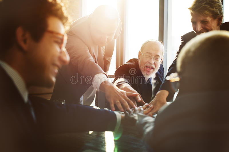 Business Team Support Join Hands Concept.  stock image