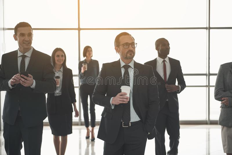 Business team taking break from work royalty free stock images