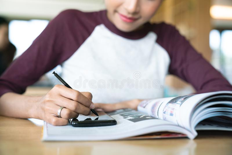 Business team taking notes on a meeting royalty free stock image