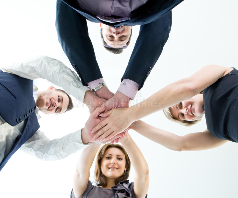 Business Team With Their Hands Stock Photography