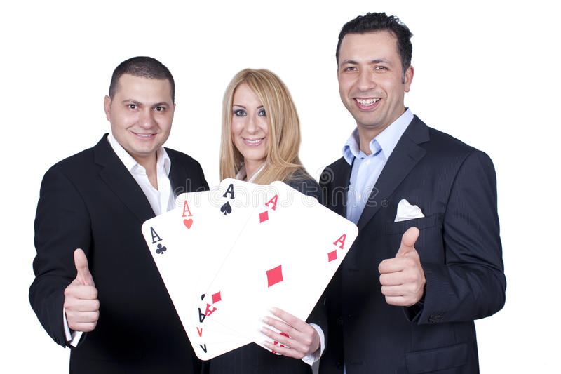 Business Team Threesome Royalty Free Stock Images
