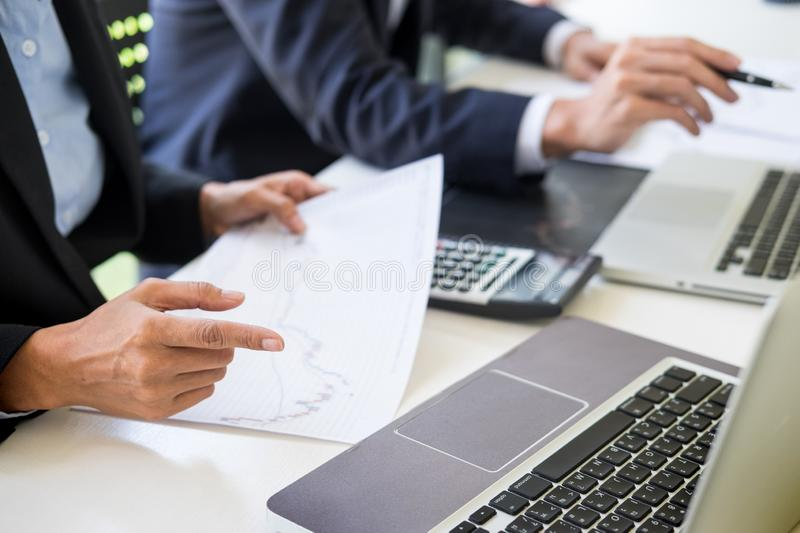 Business Team trader or broker Investment Entrepreneur colleagues working discussing and analysis graph stock market trading with. Forex chart data, financial stock photos
