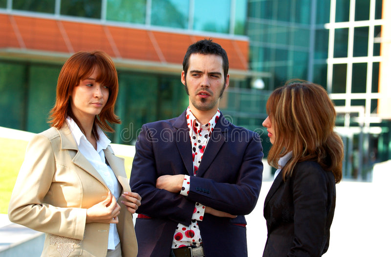 Business Team In Turmoil royalty free stock photography