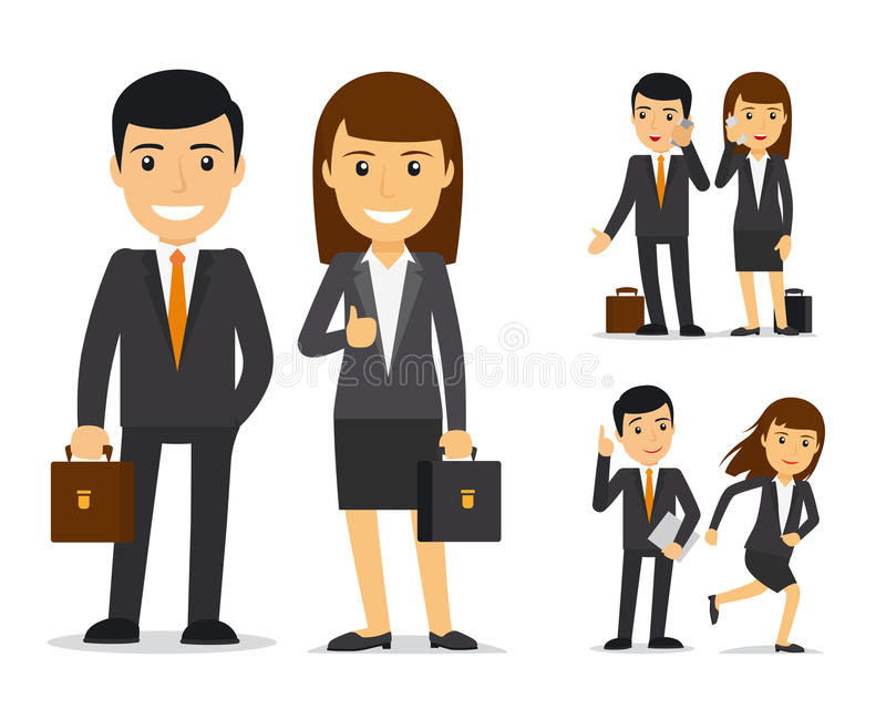 Business team vector characters stock illustration