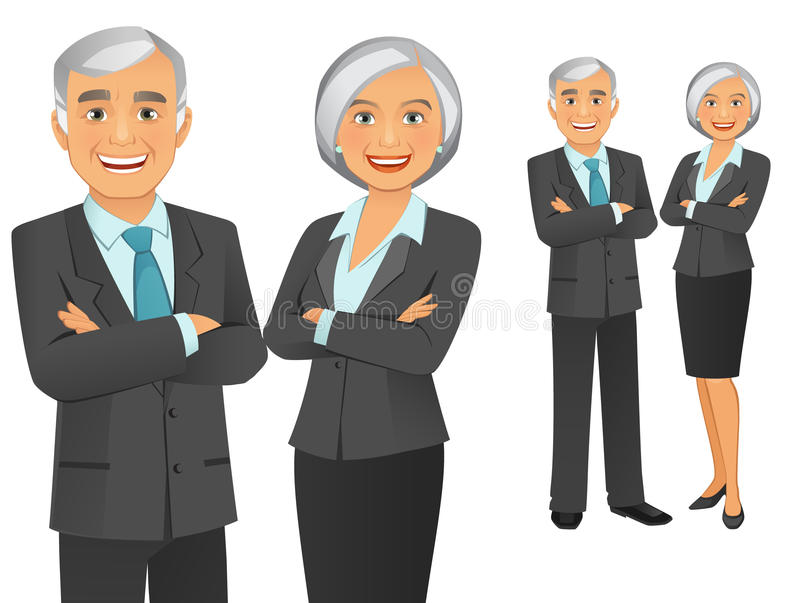 Business Team. Vector illustration of a happy business team vector illustration