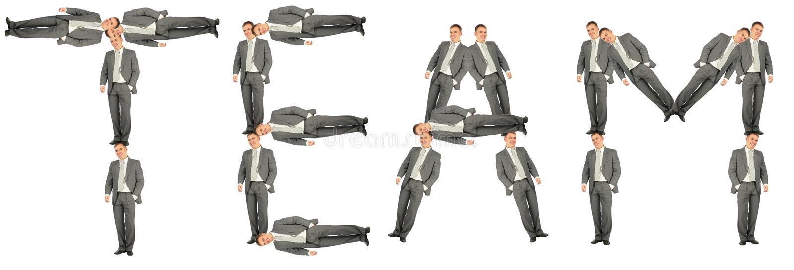 Business team word collage royalty free stock photo