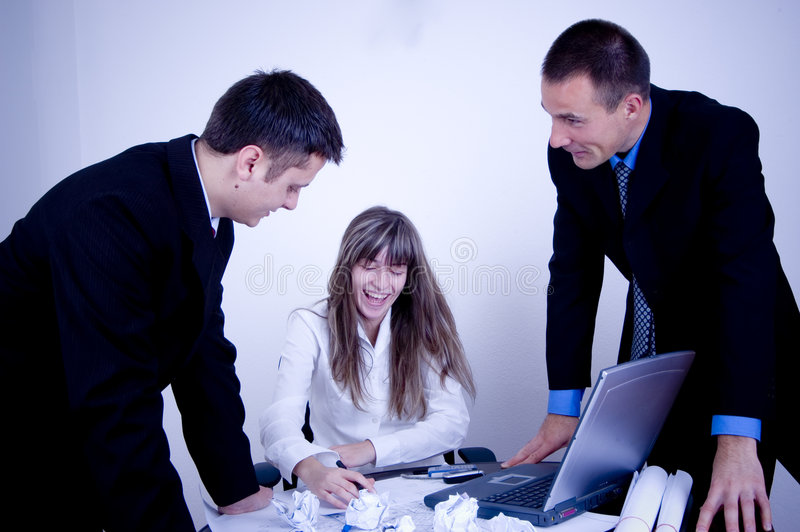 Business Team Work! royalty free stock image