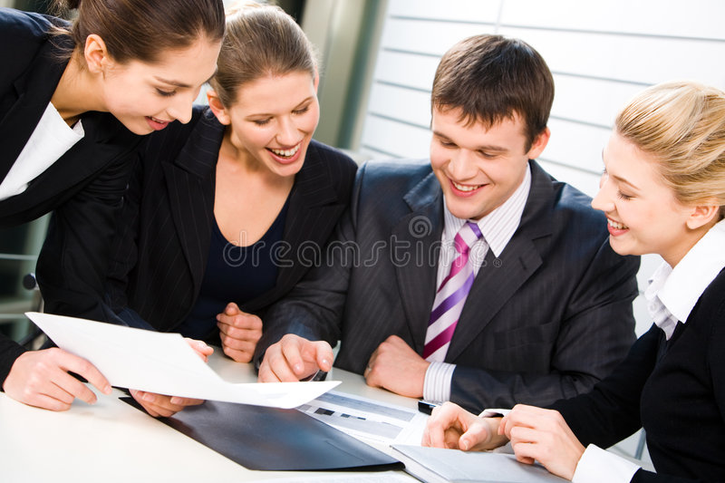 Business team at work royalty free stock images
