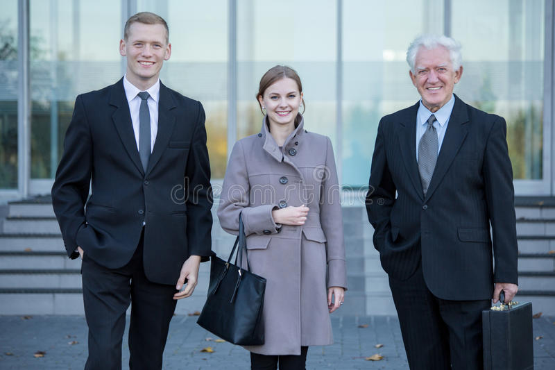 Business team after work in corporation royalty free stock images