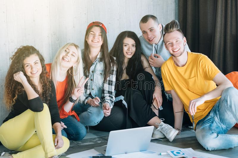 Business team work relax diverse youth group royalty free stock photography