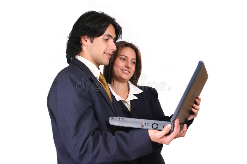 Business team working 2 royalty free stock photography