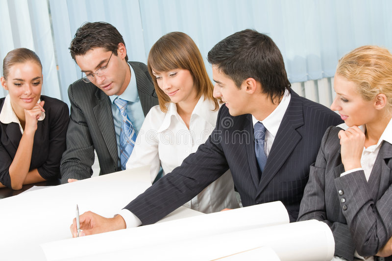 Download Business team working stock photo. Image of mixed, partners - 7128364