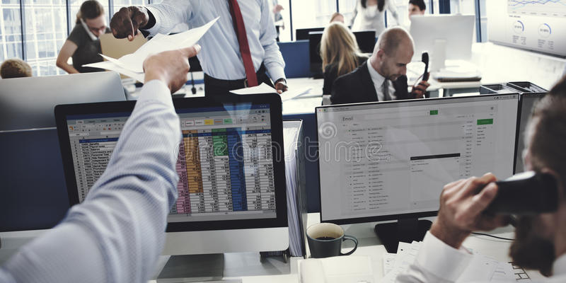 Business Team Working Accounting Correspondence Concept stock photography
