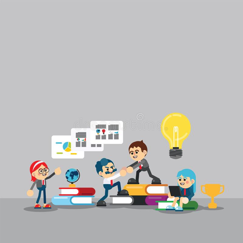 Business team working concept royalty free illustration