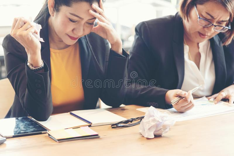 Business Team working and discussing for new project investment business job.  Team work partners  meeting and brief work in the o stock images