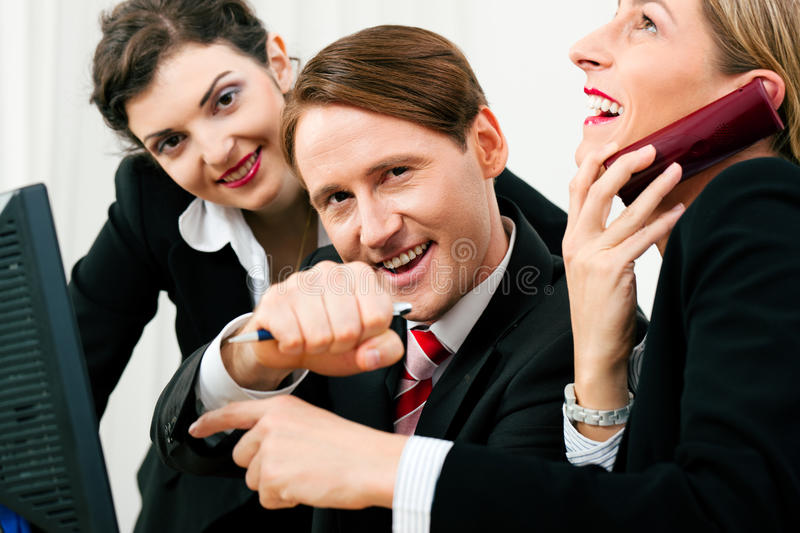 Download Business Team Working In The Office Stock Image - Image: 19496581