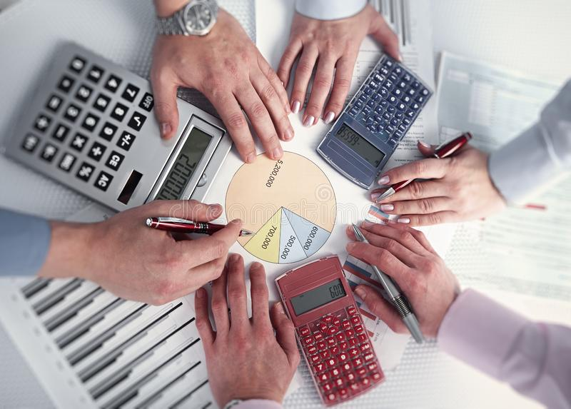 Business team working at office. stock photo