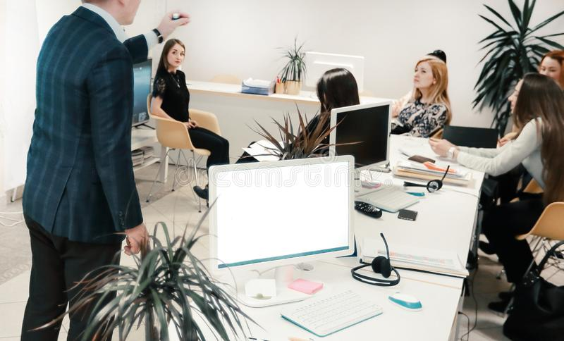 Business team working in office.office life. photo with copy space royalty free stock image