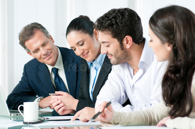 Download Business Team Working Together Stock Image - Image: 17984397