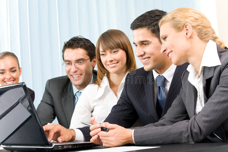 Business-team working together stock photography