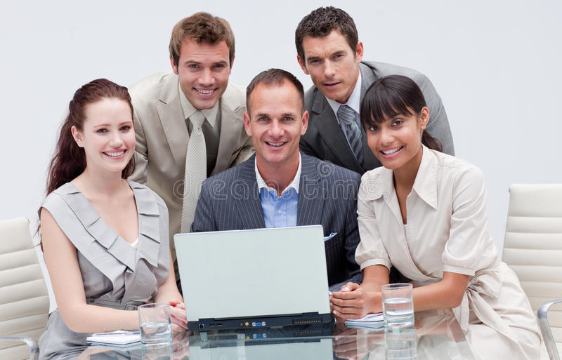 Business Team Working Together In An Office Stock Images