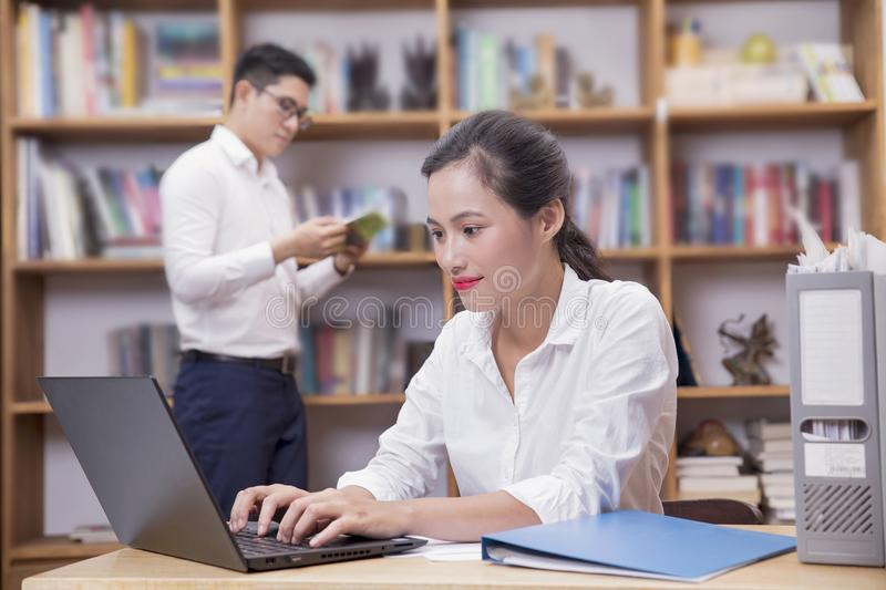 A business team working together stock photography