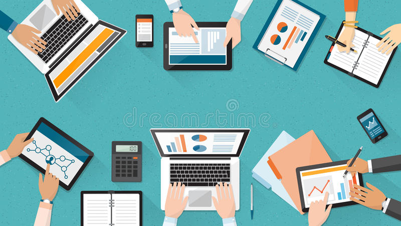Business team stock illustration