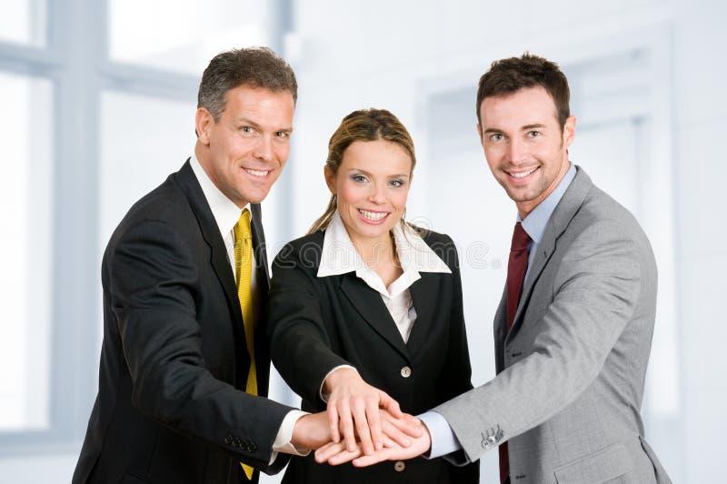 Business teamwork royalty free stock photo