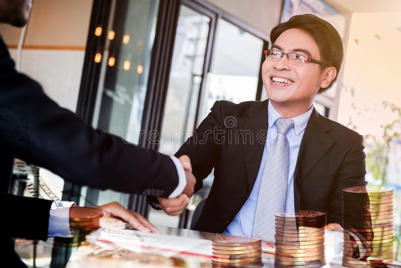 Business succes anf teamwork. Business and teamwork for achievement KPI and goal royalty free stock photo