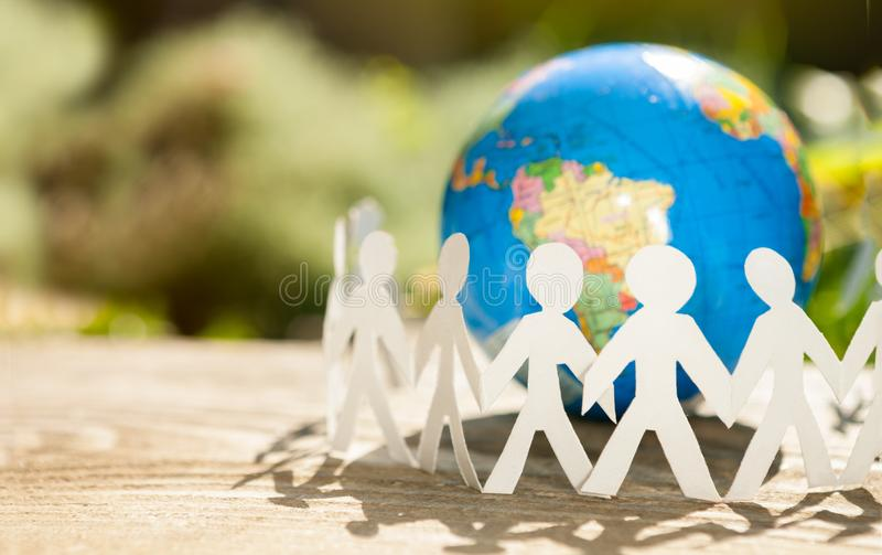 Business teamwork around the world royalty free stock photography
