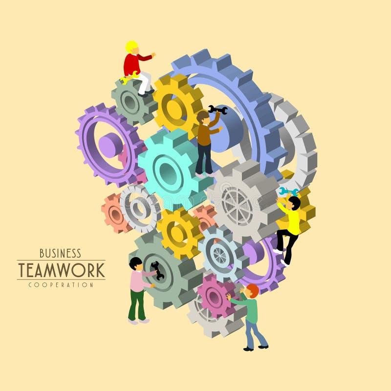 Business teamwork vector illustration