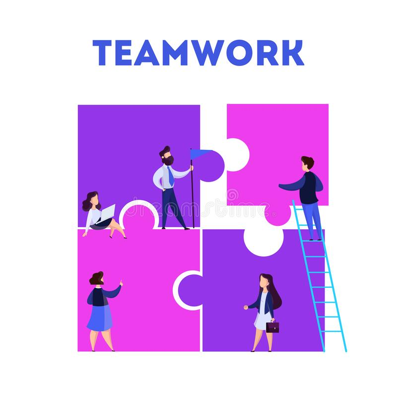 Business teamwork concept. Idea of partnership and cooperation royalty free illustration