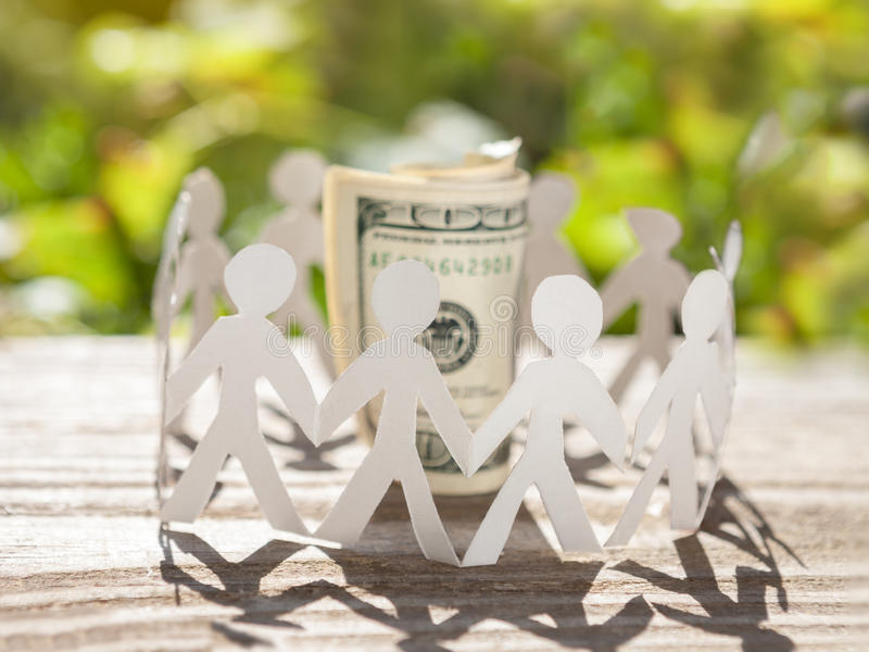 Business teamwork in economy stock images
