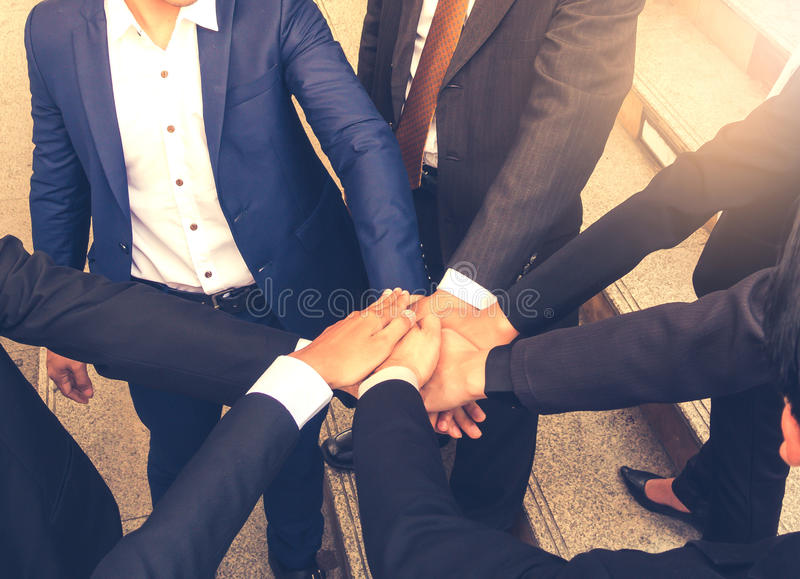 Business Teamwork Join Hands Support Together Concept. Business Teamwork Join Hands Support Together Concept royalty free stock photos