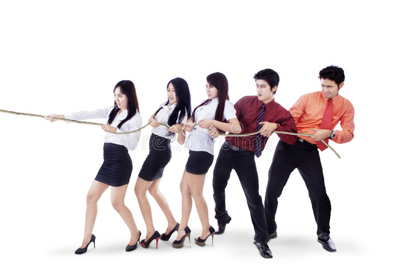 Download Business Teamwork Pull Chain - Stock Image - Image: 31253579