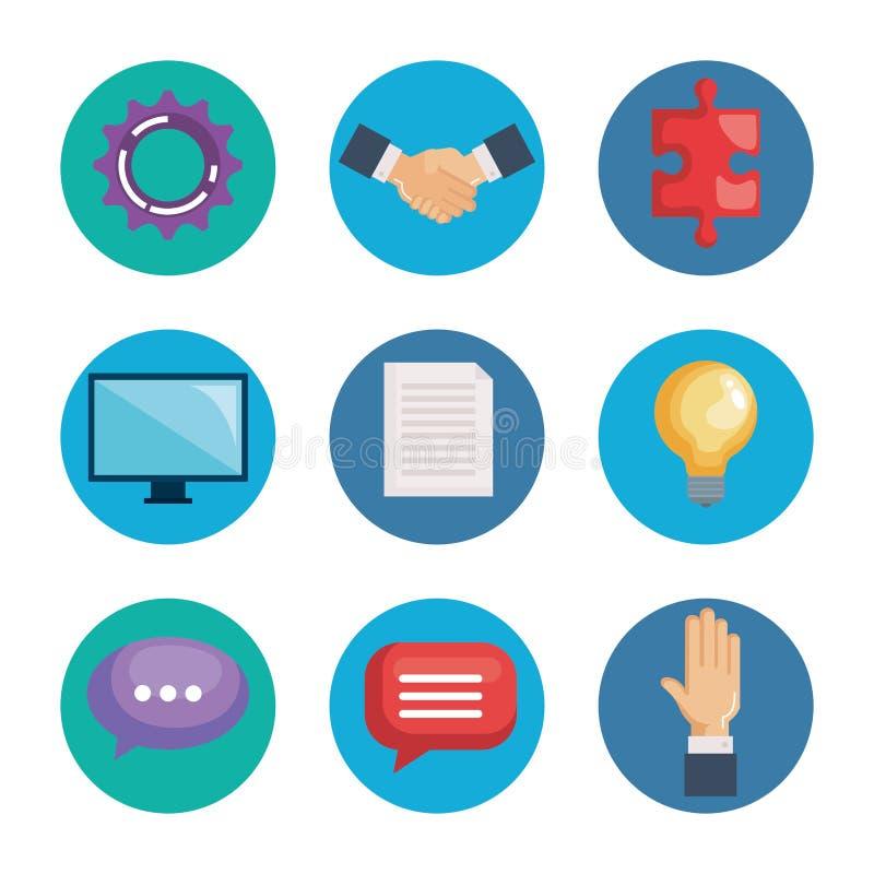 Business teamwork set icons. Vector illustration design vector illustration