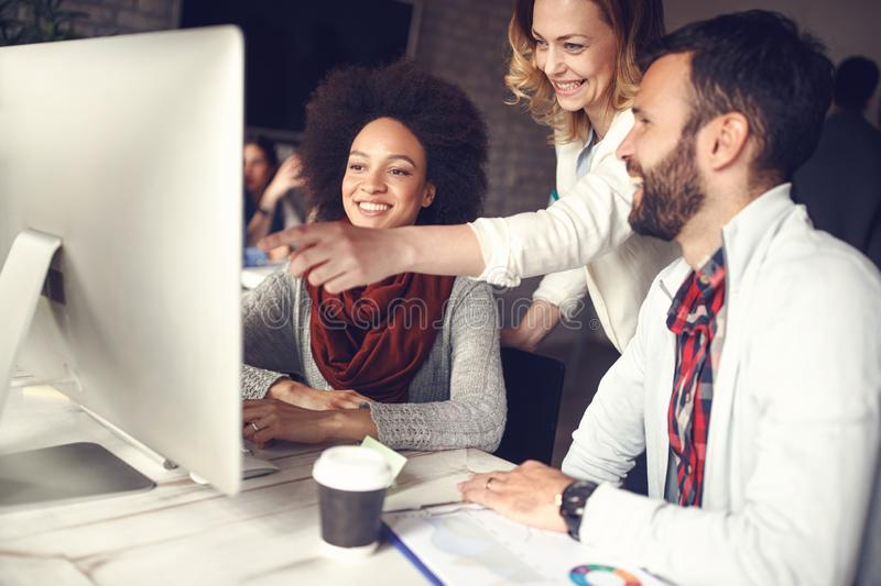 Business teamwork- Team of creative people stock photography