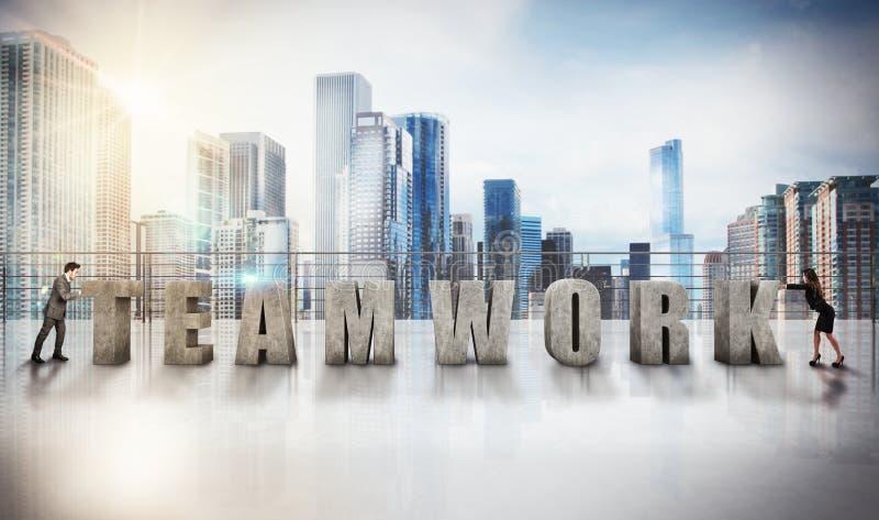 Business teamwork view royalty free stock photos